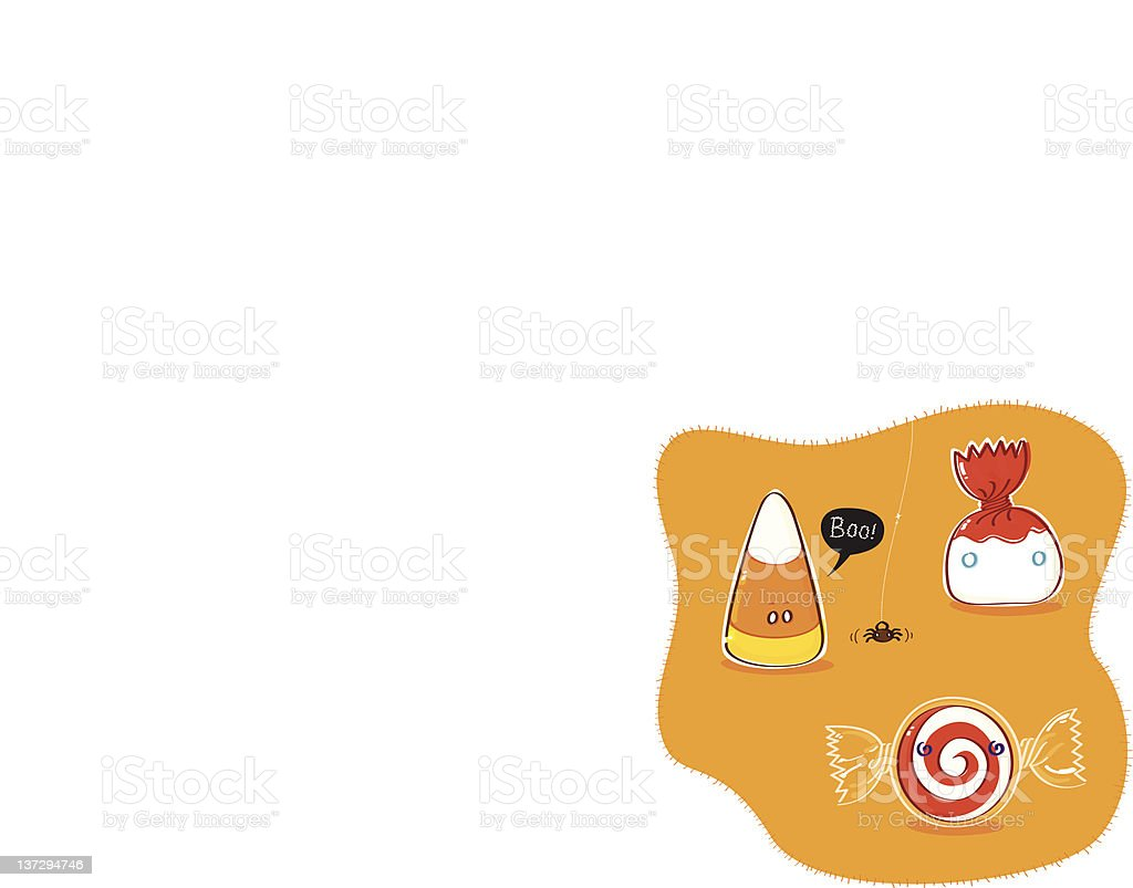 Halloween Sweets royalty-free stock vector art