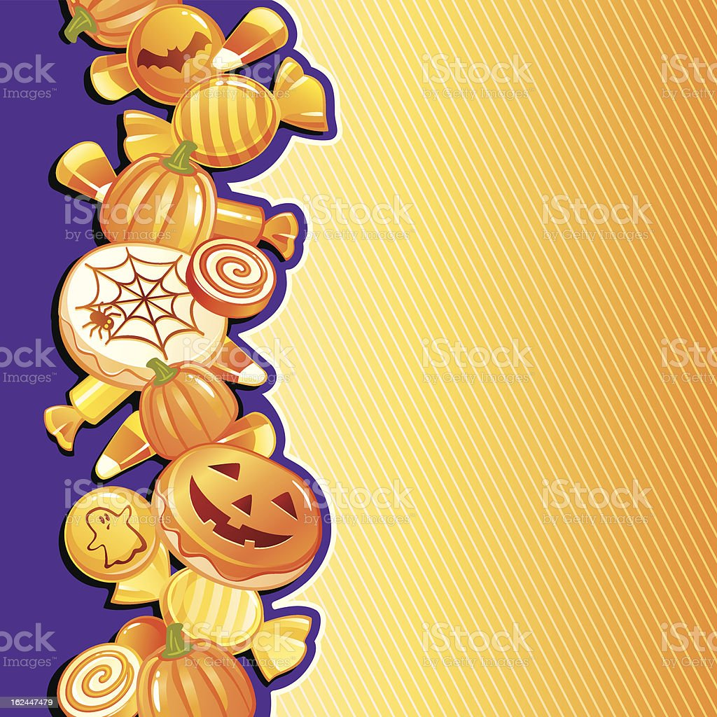 Halloween sweets vector art illustration
