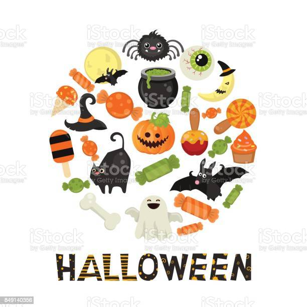 Halloween symbols collection vector id849140356?b=1&k=6&m=849140356&s=612x612&h=q33ul9llhtwuixm8ymr39oir anbwbf tkag8xpmaio=