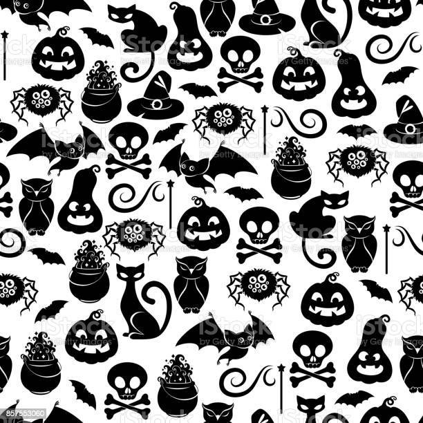 Halloween symbols seamless pattern vector id857553060?b=1&k=6&m=857553060&s=612x612&h=lol9oxael09fabbmazgmbl3dgn0rl1wzkkl ufa1r w=