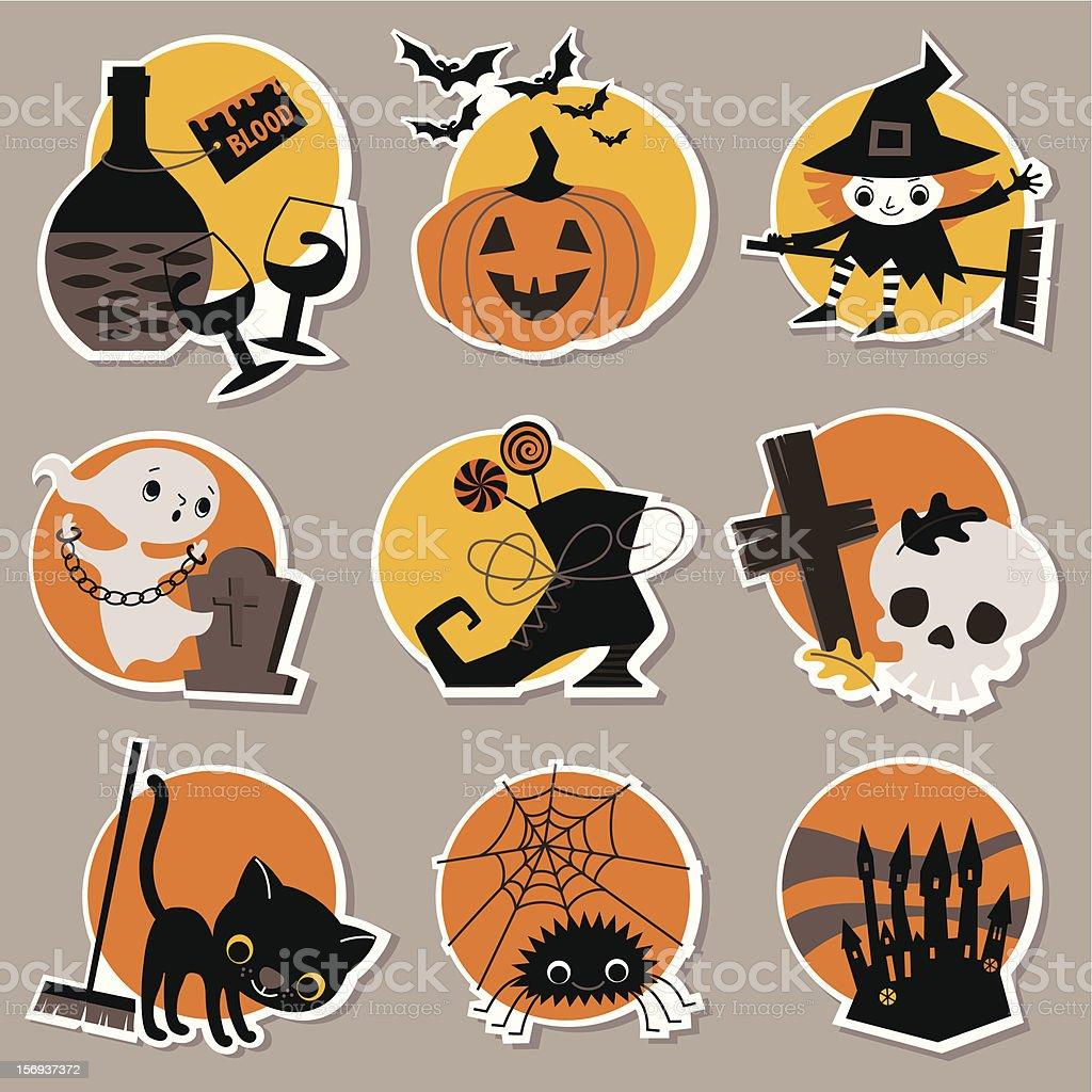 Halloween Symbols. royalty-free stock vector art