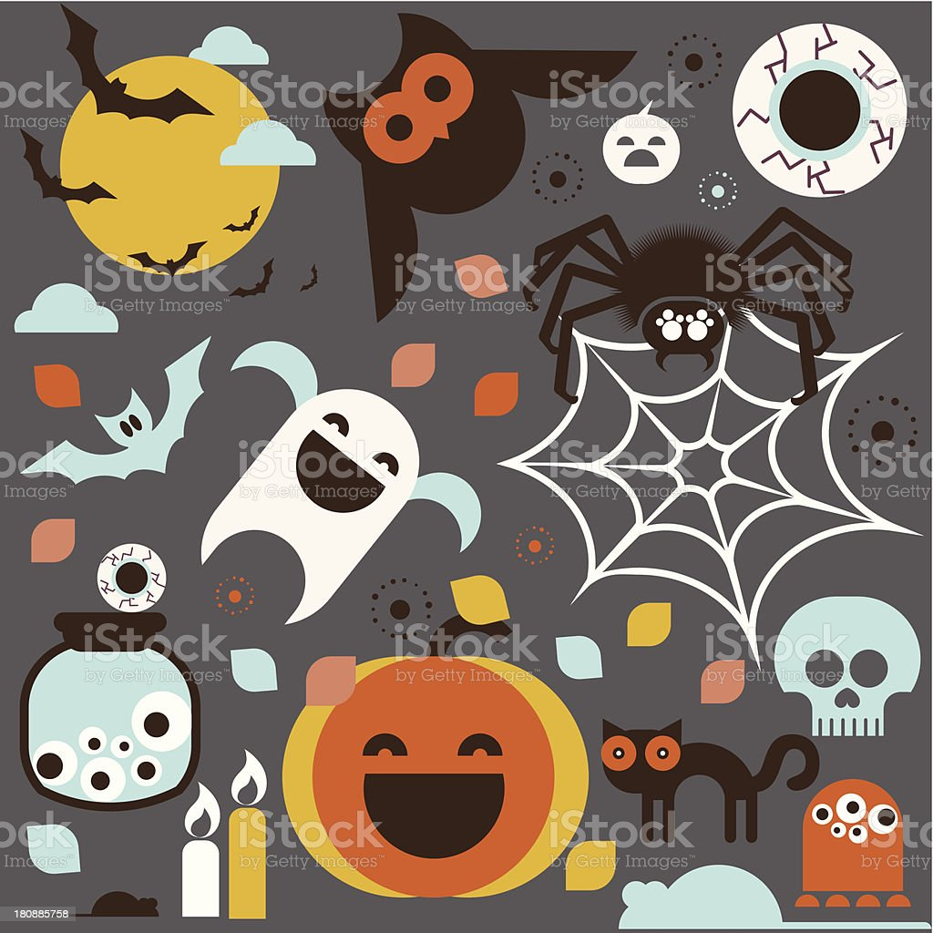 Halloween symbols royalty-free stock vector art
