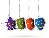 Halloween Tags. High Resolution JPG,CS5 AI and Illustrator EPS 8 included. Each element is named,grouped and layered separately.