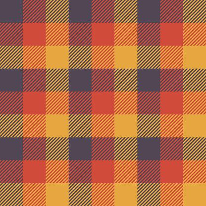 Halloween Tartan Seamless Pattern Background