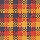 Halloween Tartan Seamless Pattern Background. Autumn color panel Plaid, Tartan Flannel Shirt Patterns. Trendy Tiles Vector Illustration for Wallpapers.