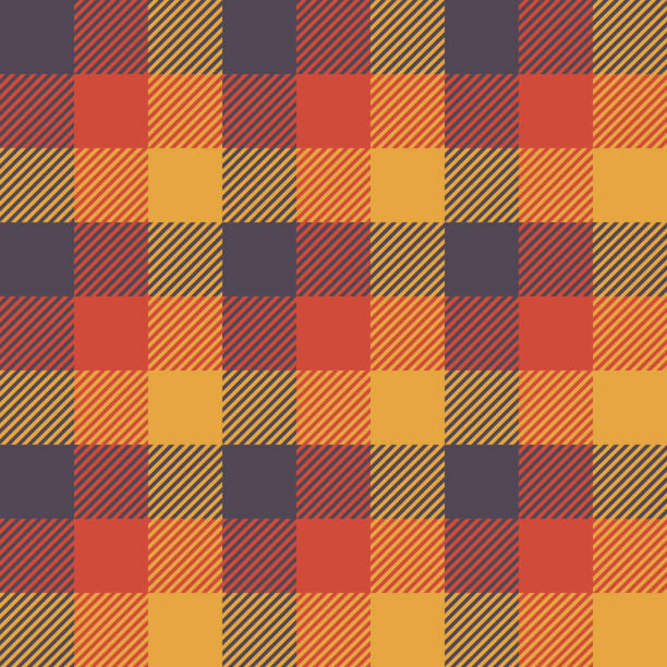 Halloween Tartan Seamless Pattern Background Halloween Tartan Seamless Pattern Background. Autumn color panel Plaid, Tartan Flannel Shirt Patterns. Trendy Tiles Vector Illustration for Wallpapers. fall background stock illustrations