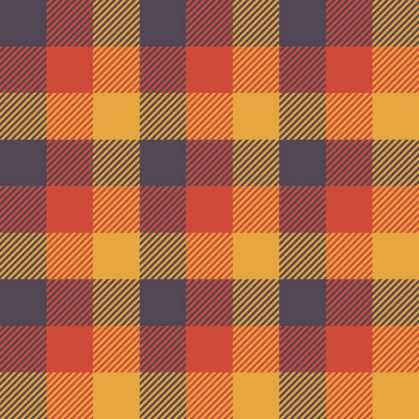ハロウィーン タータンのシームレスなパターン背景 - 秋点のイラスト素材/クリップアート素材/マンガ素材/アイコン素材