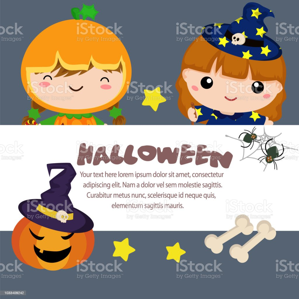 halloween template pumpkin witch girl stock vector art more images