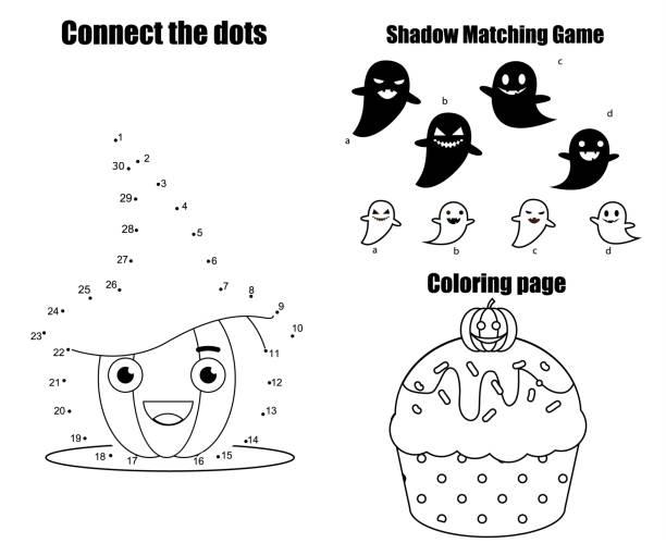 Vectores de Escuela Preescolar Dibujar Y Colorear Tarea y ...