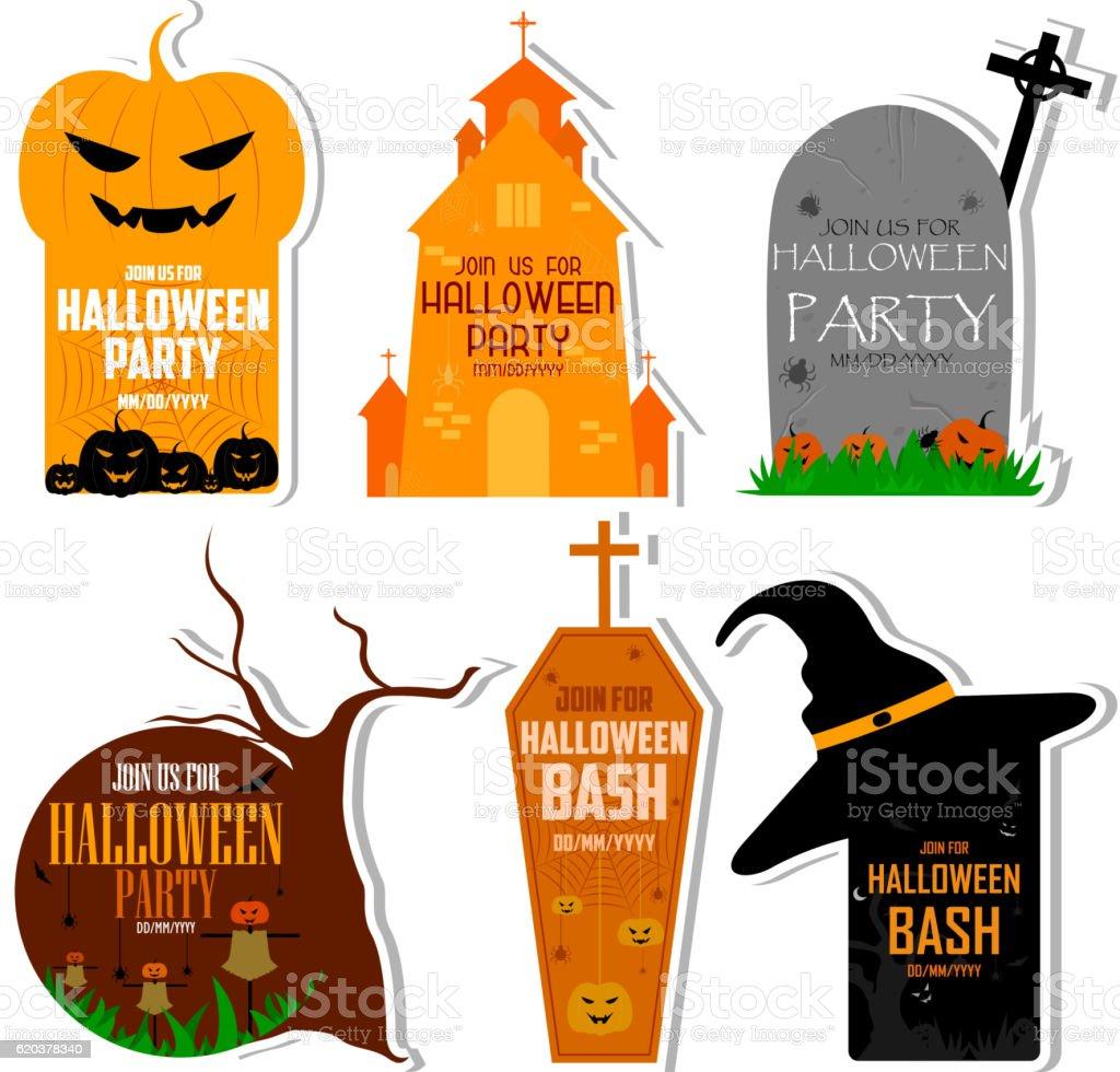 Halloween theme label halloween theme label - stockowe grafiki wektorowe i więcej obrazów bez ludzi royalty-free