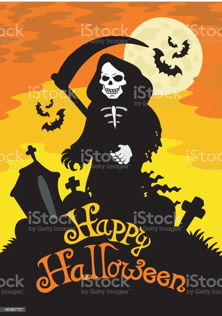 Halloween theme with grim reaper royalty-free halloween theme with grim reaper stock vector art & more images of animal body part