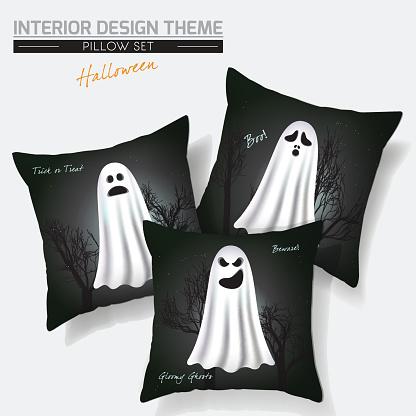 Halloween Throw Pillow set design