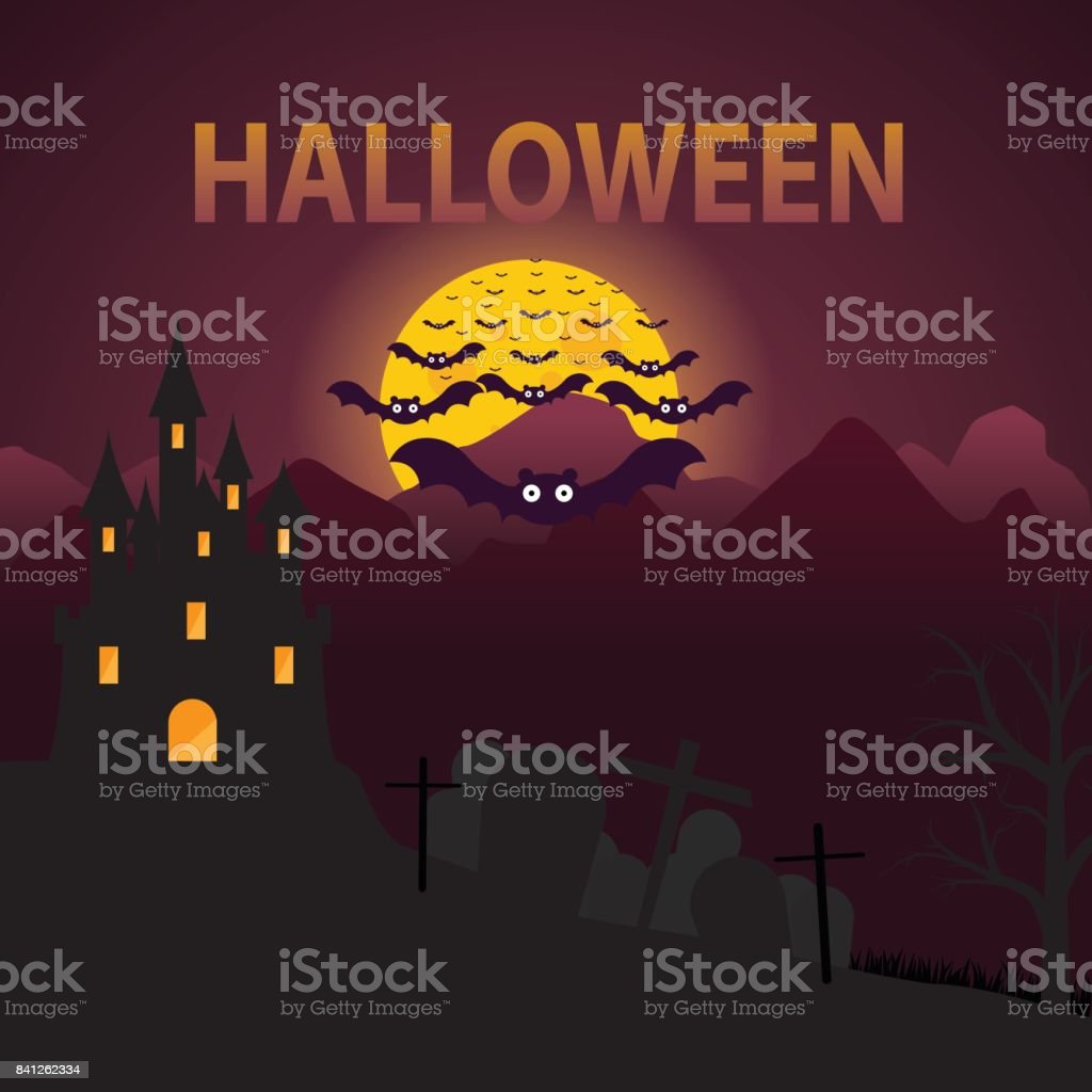 halloween town vector background stock vector art & more images of