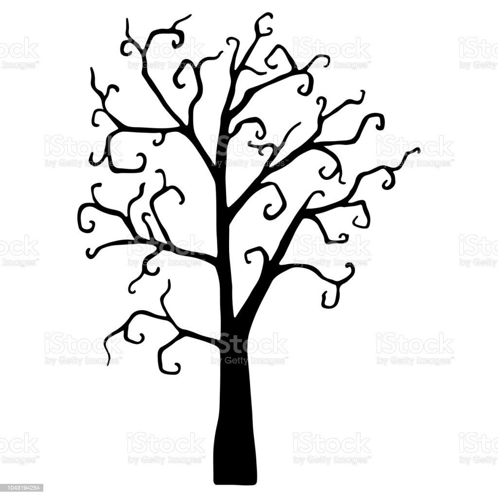 halloween tree silhouette isolated on white royalty free halloween tree silhouette isolated on white stock