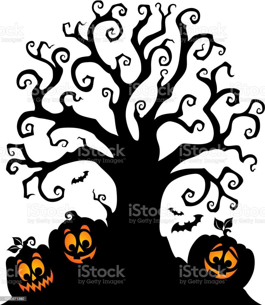 halloween tree silhouette topic 7 royalty free halloween tree silhouette topic 7 stock vector art