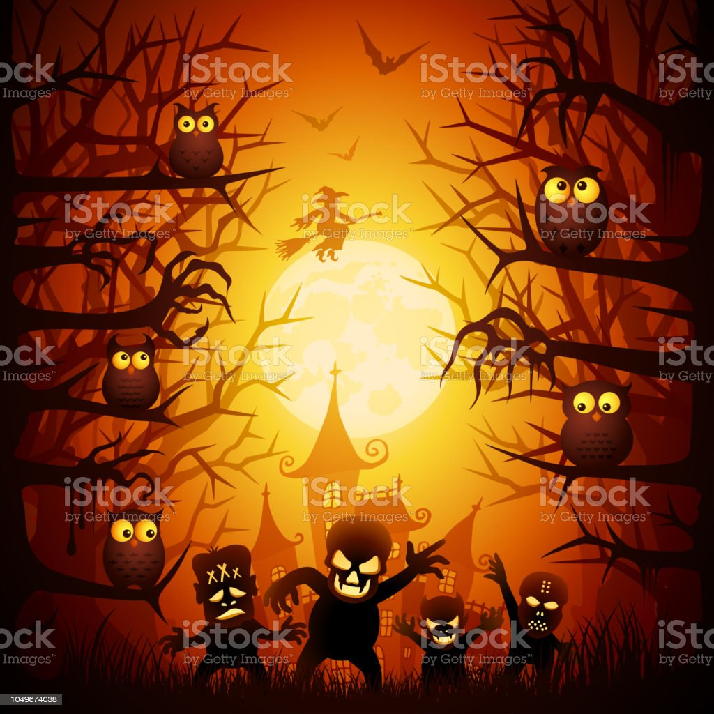 Halloween Trick or Treat vector art illustration