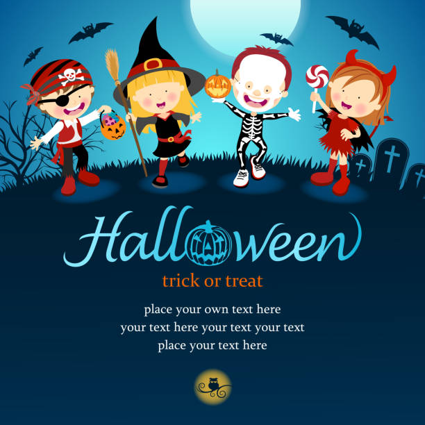Best Trick Or Treat Illustrations, Royalty-Free Vector