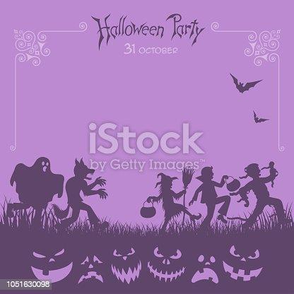 istock Halloween Trick Or Treaters 1051630098
