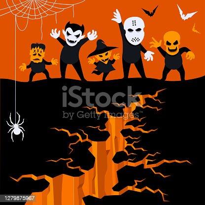 istock Halloween Trick Or Treaters 1279875967