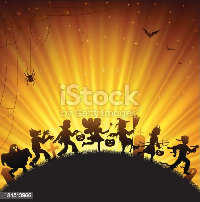 istock Halloween Trick Or Treaters 184543966