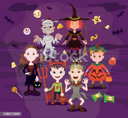 istock Halloween Trick-or-treating 1280210561