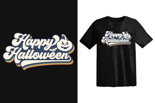 Halloween tshirt design, vintage typography and lettering art, retro slogan