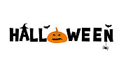 istock Halloween typography poster 1126220294