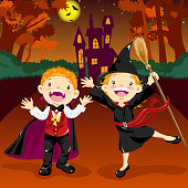 Halloween Vampire and Witch