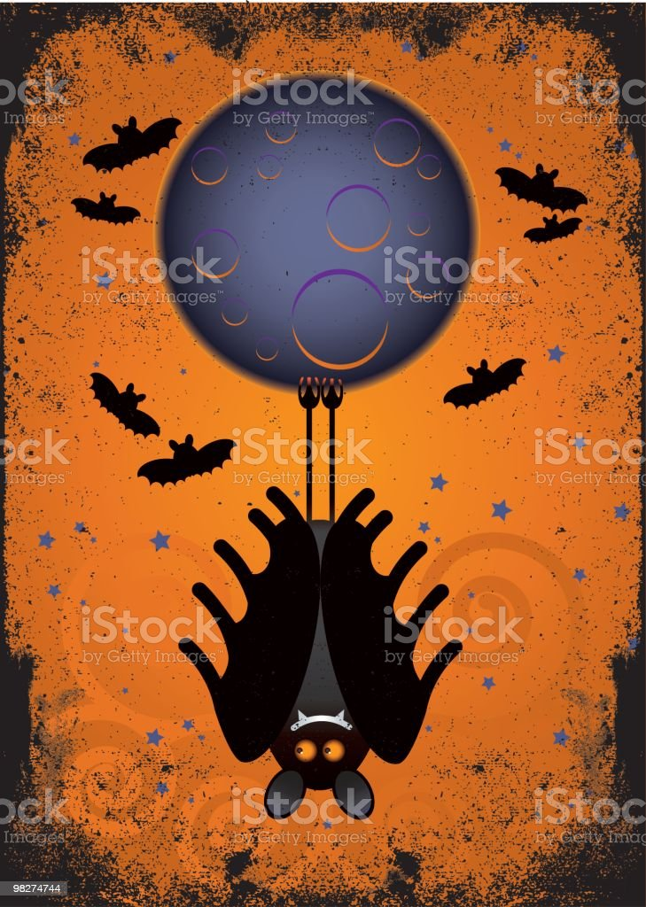 halloween vampire bat and full moon royalty-free halloween vampire bat and full moon stock vector art & more images of animal body part