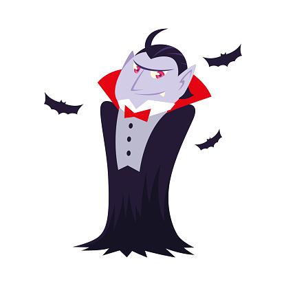 Halloween vampire cartoon vector design