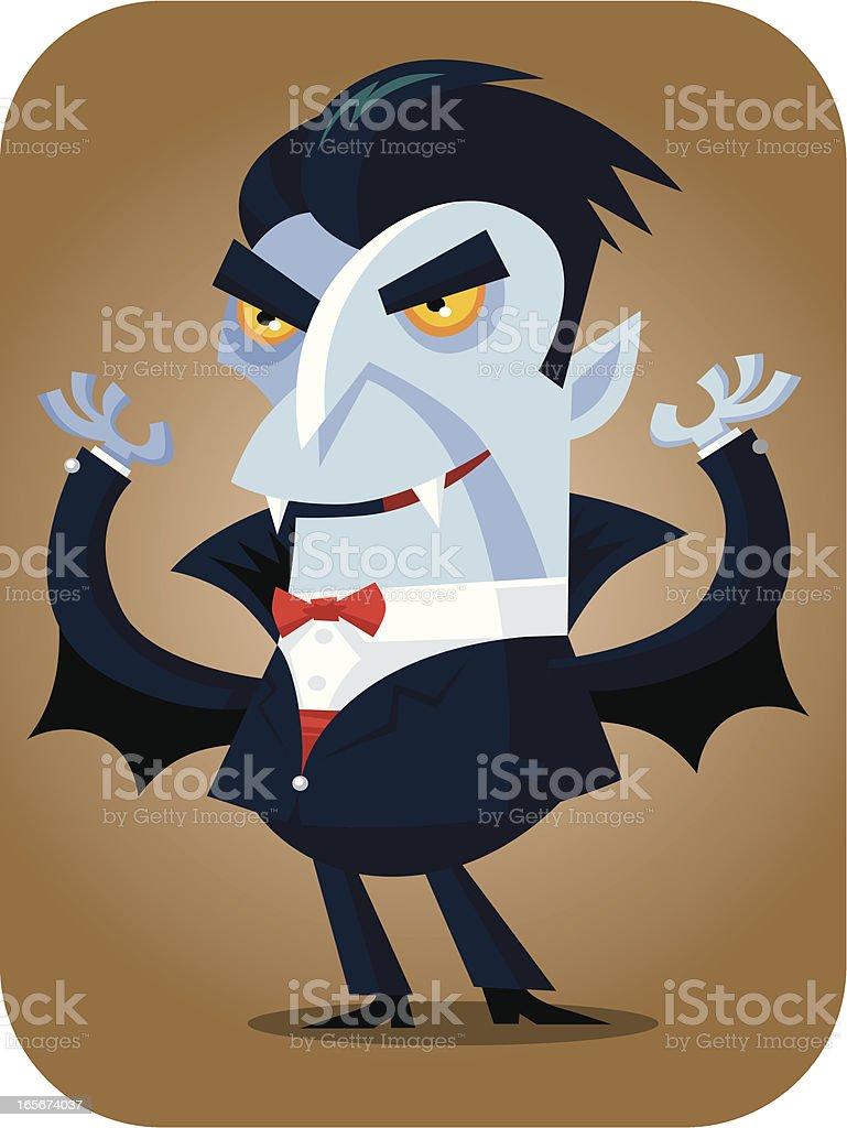 Halloween Vampire vector art illustration