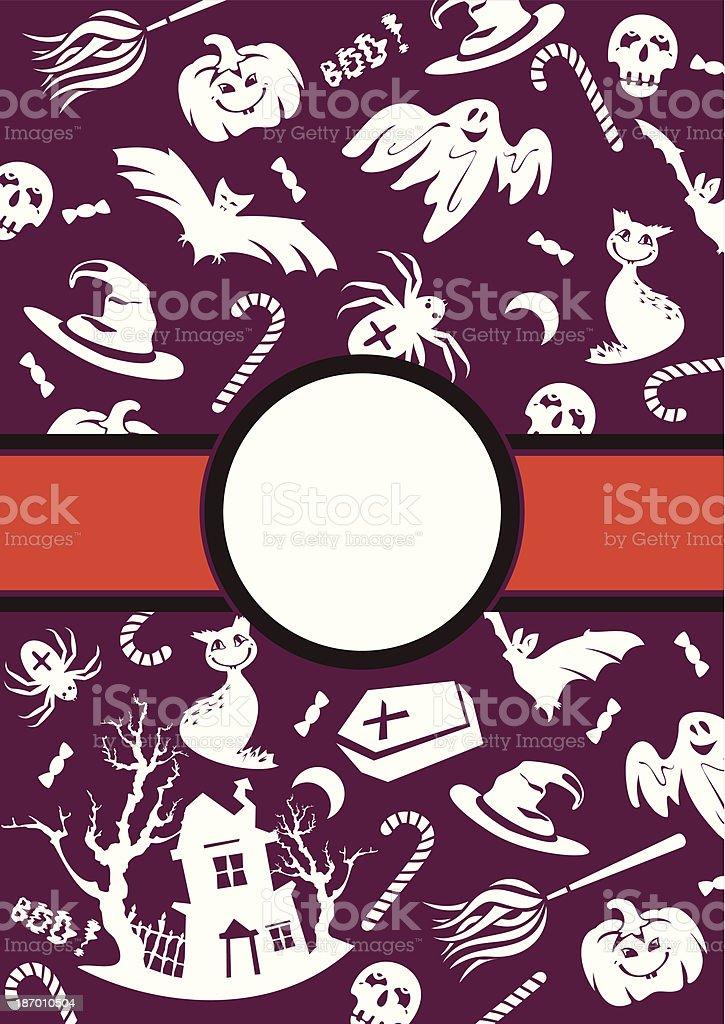 Halloween vector frame royalty-free stock vector art