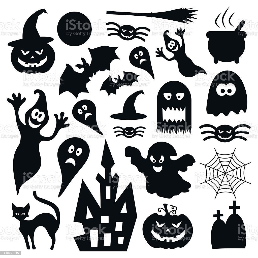 Halloween Vector Icons Stock Illustration - Download Image