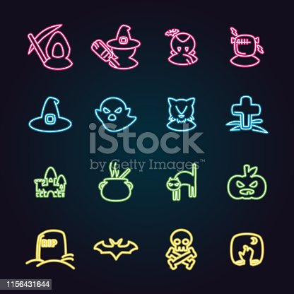 The vector files of Halloween icon set.