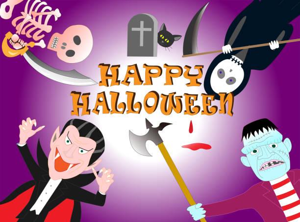 halloween – artystyczna grafika wektorowa