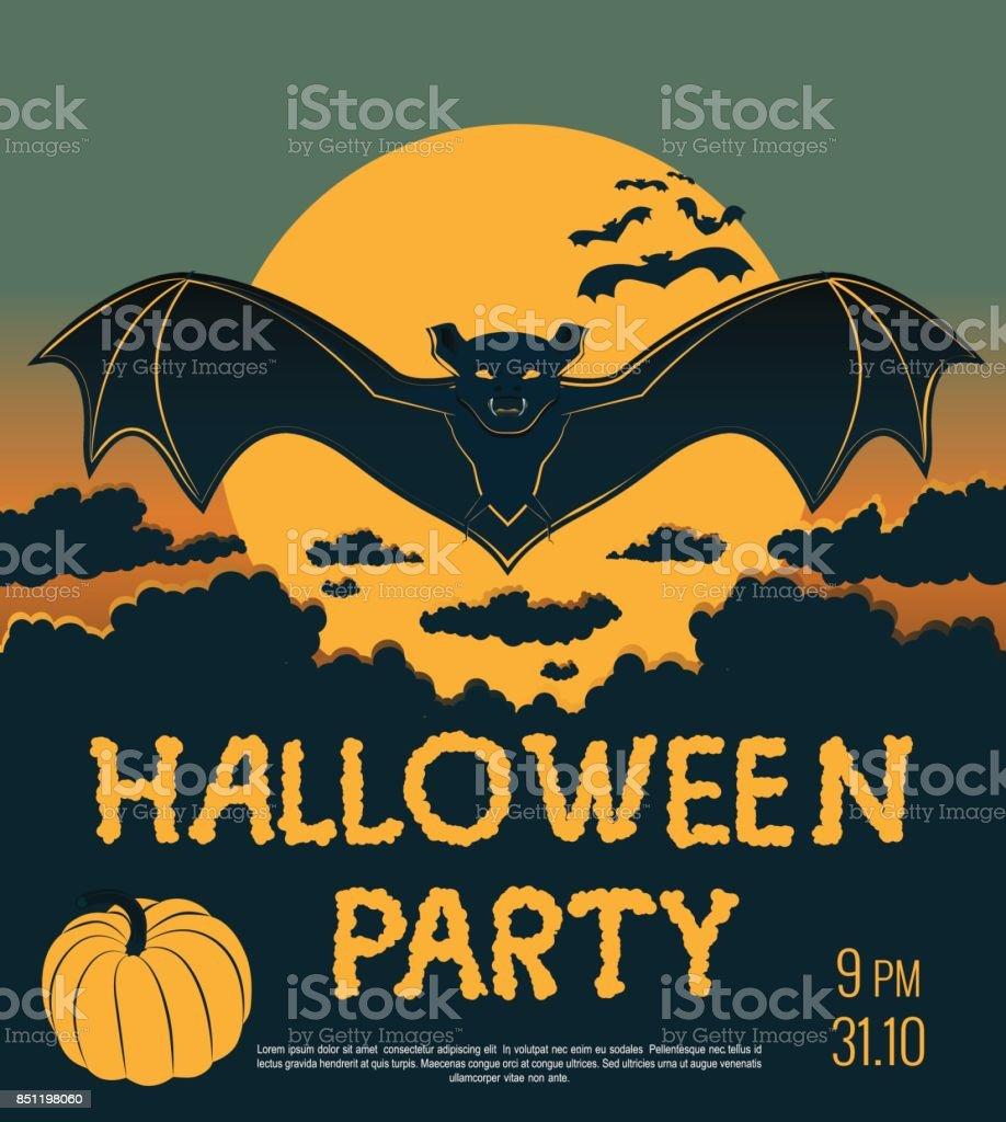 Halloween vector art illustration
