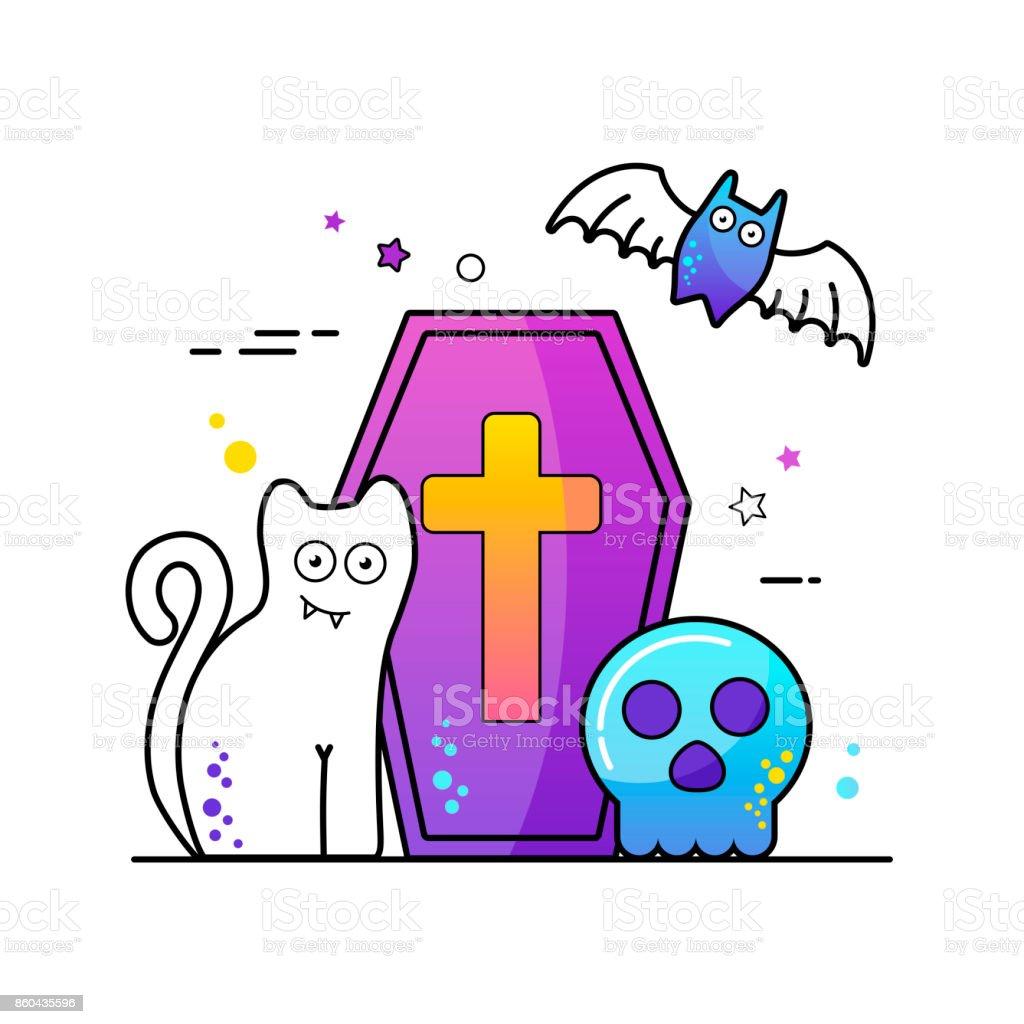 Halloween vector illustration Poster vector art illustration