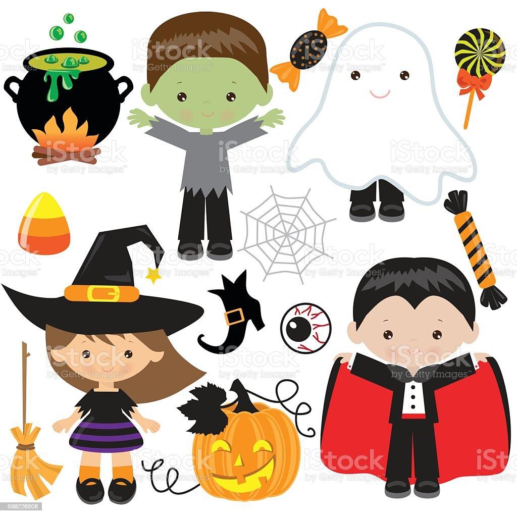 Halloween Ilustração vetorial ilustração de halloween ilustração vetorial e mais banco de imagens de bruxa - criatura mítica royalty-free