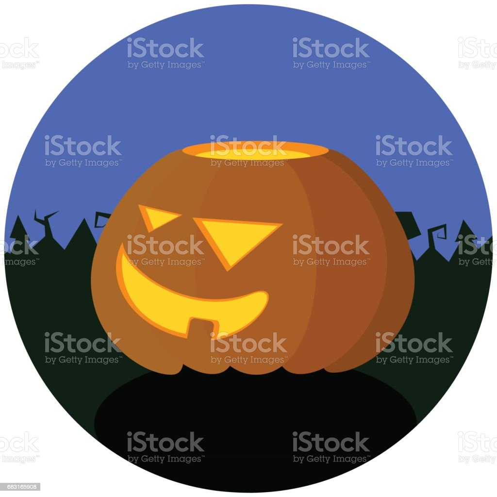 Halloween Vector Illustration With Pumpkin Autumn Or Fall Season Diagram Of A Festivals Object Royalty Free
