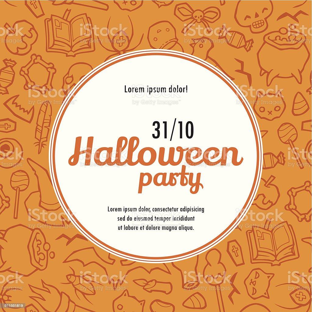 Halloween Wektor Zaproszenie Wzór Stockowe Grafiki Wektorowe I