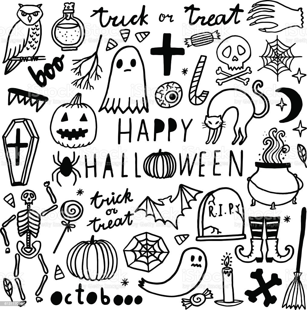 halloween vector set cute icon collection stock vector art more rh istockphoto com free halloween vector clipart free halloween vector icons