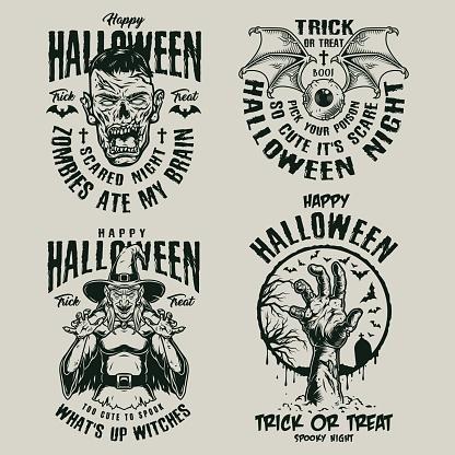 Halloween vintage symbols