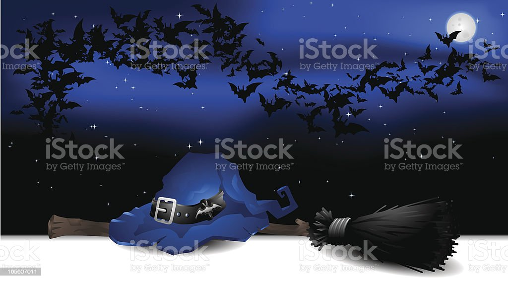 Halloween : Witch Night royalty-free halloween witch night stock vector art & more images of backgrounds
