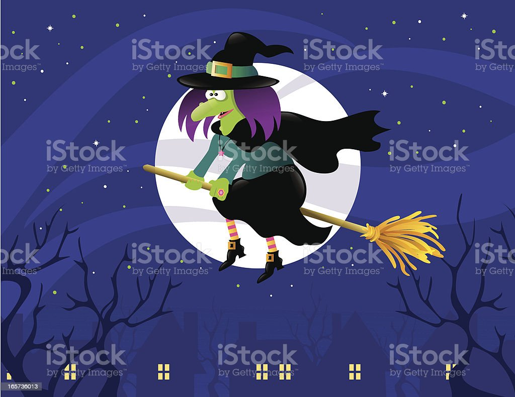 Halloween Witch royalty-free halloween witch stock vector art & more images of broom