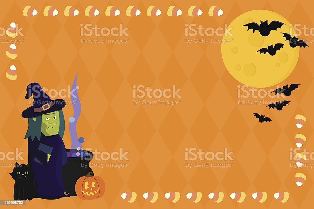 Halloween Witch with Copy Space royalty-free halloween witch with copy space stock vector art & more images of autumn