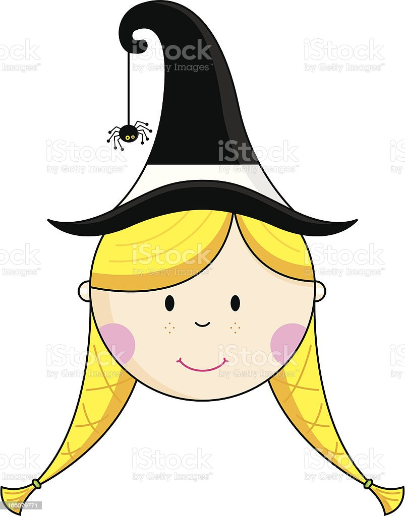 Halloween Witch's Head/Face Mask royalty-free stock vector art