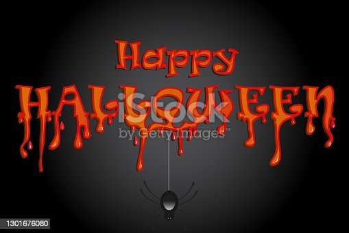 istock Halloween with spiders party background 1301676080