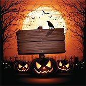 istock Halloween Wooden Sign 181279545