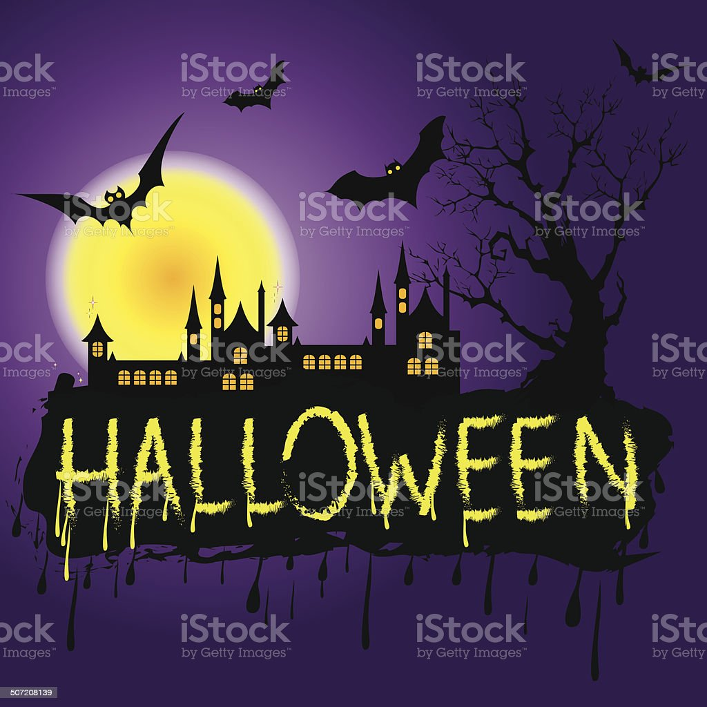 Halloween Zombie Party Poster. Vector illustration. royalty-free stock vector art