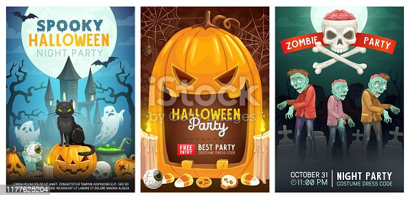 istock Halloween zombie trick or treat monsters party 1177625204